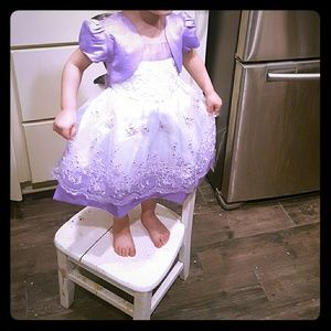 Lavender and White Easter Dress